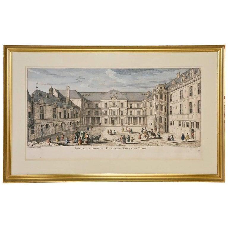 Musee de Louvre Print of 18th Century Scene