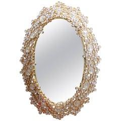1970s Backlit Palwa Crystal Mirror