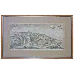 Framed Print of 18th Century Italian Scene