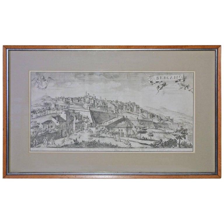Framed Print of 18th Century Italian Scene