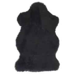 Forsyth New Zealand Sheepskin Throw Black