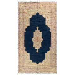 Vintage Oversize Persian Kirman Rug