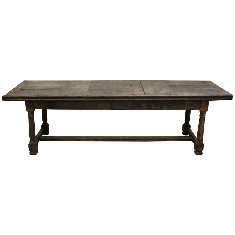 17th Century English Oak Refectory Table For Sale