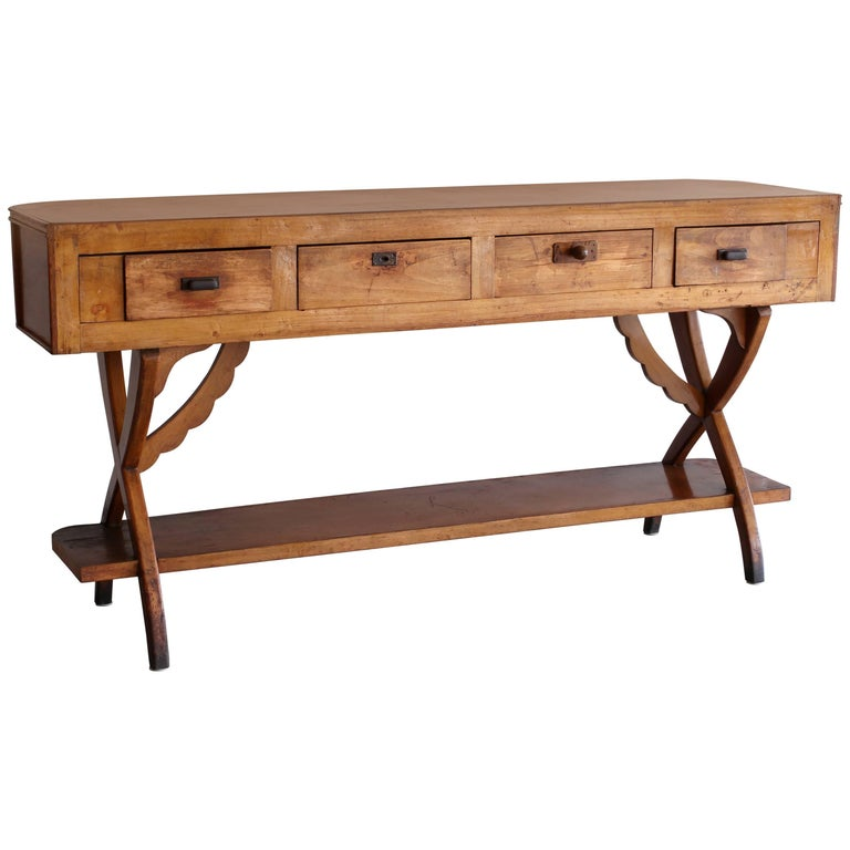 Rustic Italian Console For Sale