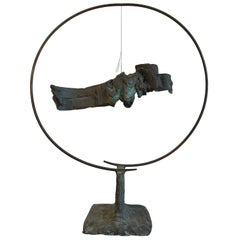 Gene Bruno Brutalist Bronze Mobile Sculpture, 1960s