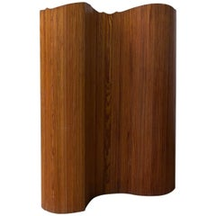 Wooden Foldable Screen or Divider, Probably Scandinavian, circa 1960