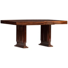 Art Deco Macassar Ebony Dining Table
