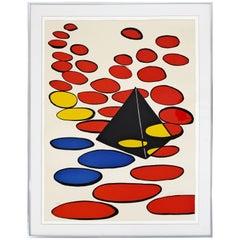 Mid-Century Modern Framed Lithograph Signed & Numbered, Alexander Calder, 1970s