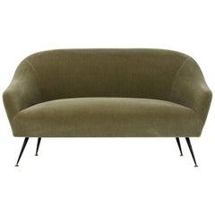 Italian Mid-Century Modern Antonio Gorgone Sofa with Mohair Upholstery
