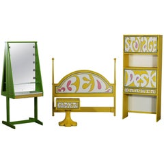 Drexel Plus One Peter Max Style Four-Piece Bedroom Set, 1970