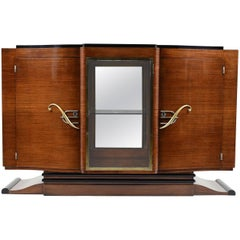 French Art Deco Mahogany Buffet Dry Bar