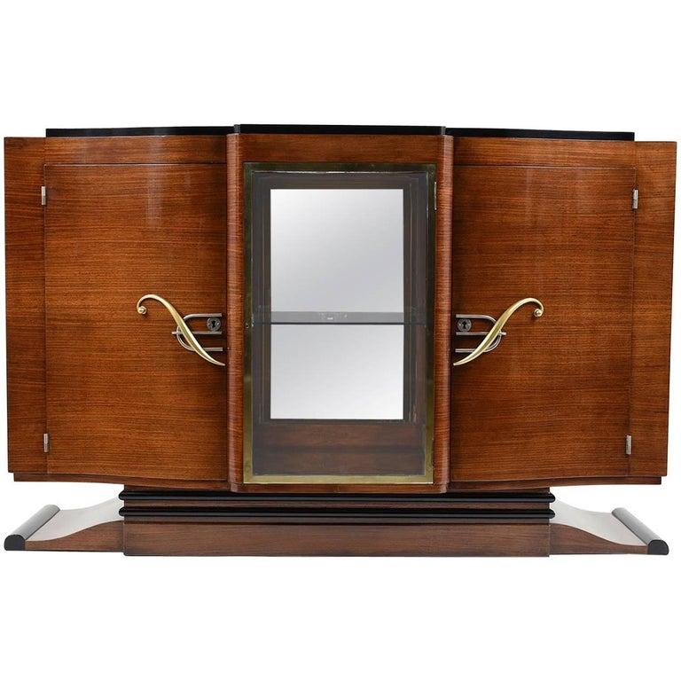 French Art Deco Mahogany Buffet Dry Bar