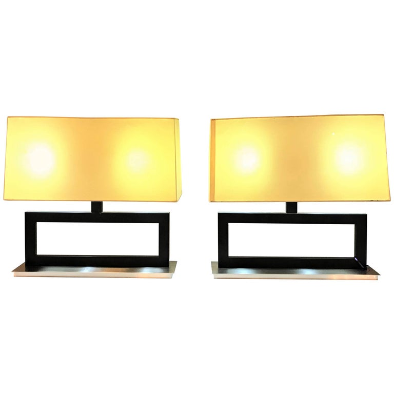 Pair of Tommi Parzinger Fashioned Table Lamps with Custom Shades