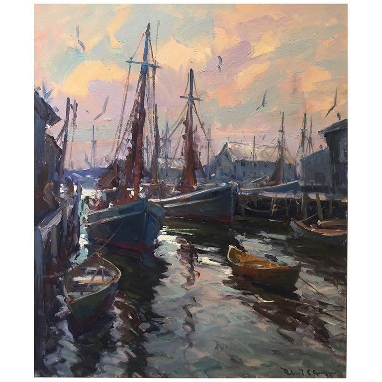 """Morning Light Gloucester"" painting by Robert Charles Gruppé"