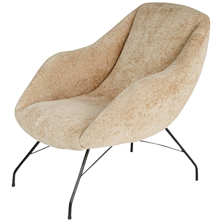 Martin Eisler and Carlo Hauner Scoop Chair for Forma, Brazil, circa 1960 For Sale