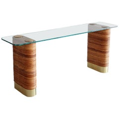 Bamboo Console in the Style of Gabriella Crespi