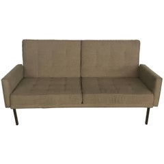 "Vintage Florence Knoll ""Parallel Bar"" Sofa Settee"