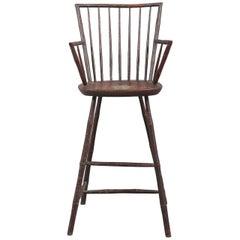 Tall Painted Windsor Armchair