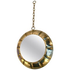 Contemporary Chain Brass Mirror, Italy