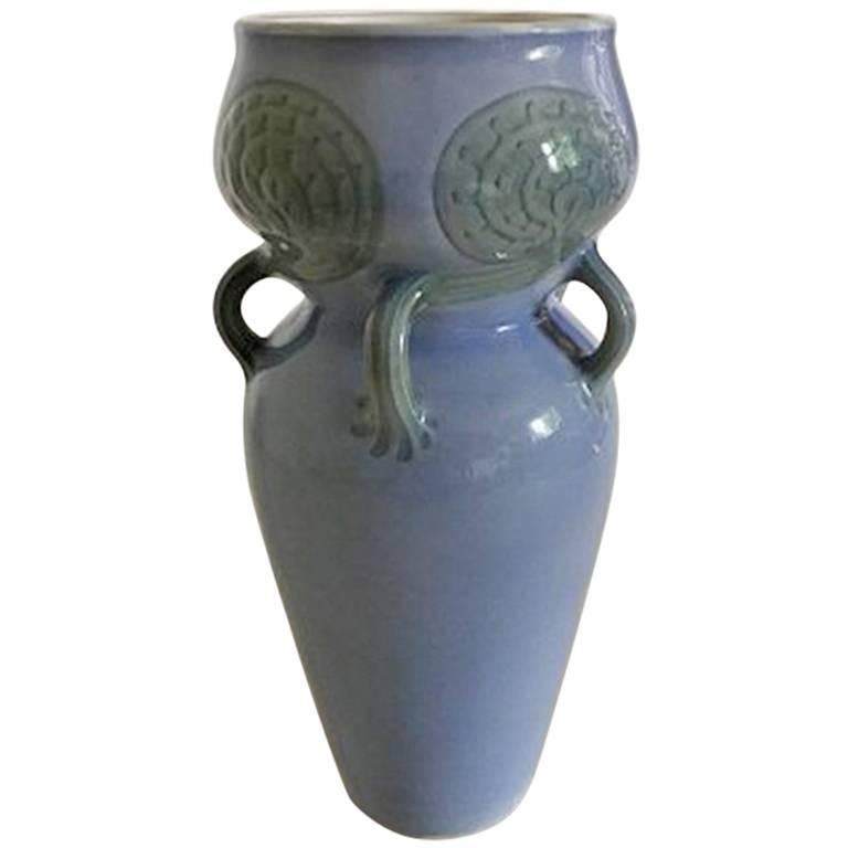 Bing & Grondahl Unique Vase with Five Handles from a Fern For Sale