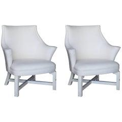 Vintage Pair of Slipper Chairs