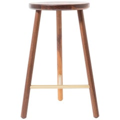 Steven Bukowski Scout Stool in Walnut, White Oak, Cerused Oak, Ebonized Oak
