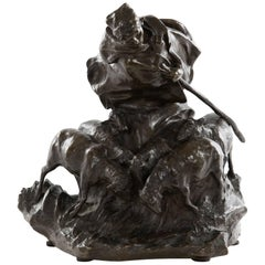 Shepherdess Bronze Grouping by Charles Korschann