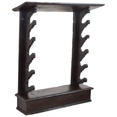 Italian Baroque Period Dark Walnut Gun Rack, 17th-18th Century