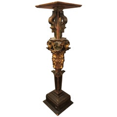 Continental Italian Gilt Distressed Continental Pedestal