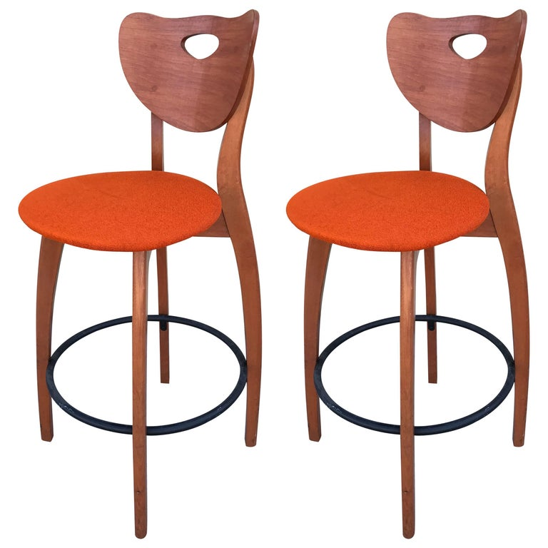 Set Of Two Unusual Design Stools At 1stdibs