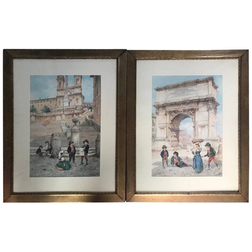 Roman Views by Ettore Ascenzi Dated, 1900