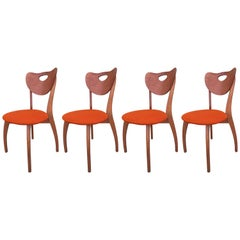 Set of Four Unusual Danish Modern Chairs
