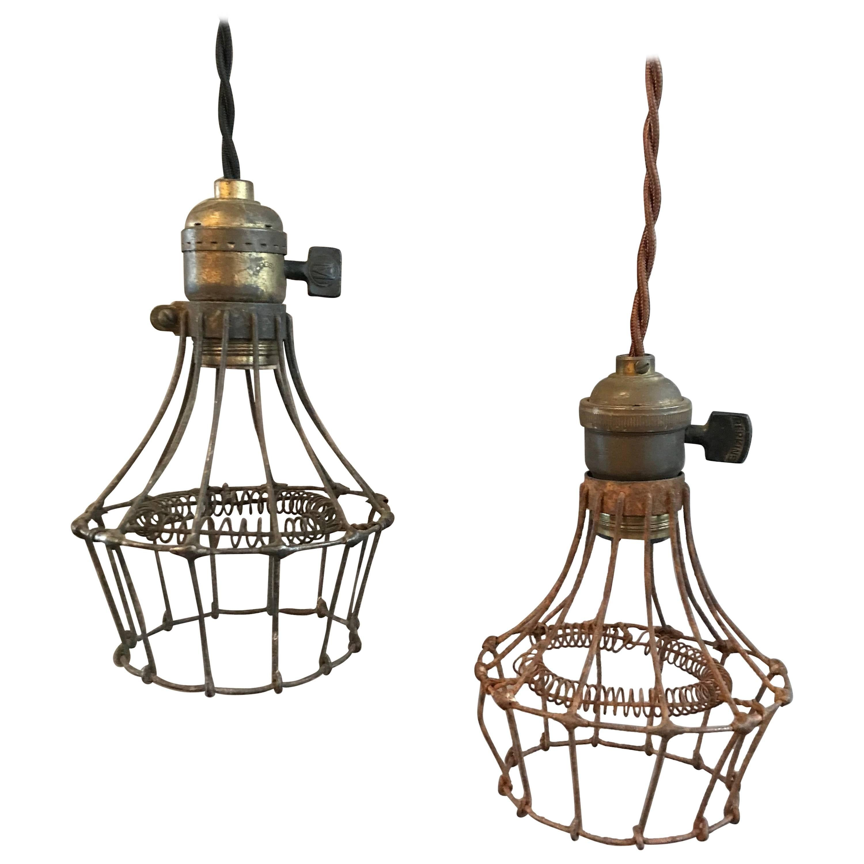 Industrial Steel Wire Cage Pendant Lights