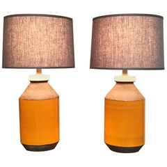 Pair of Bitossi Lamps, Italy, circa 1960s