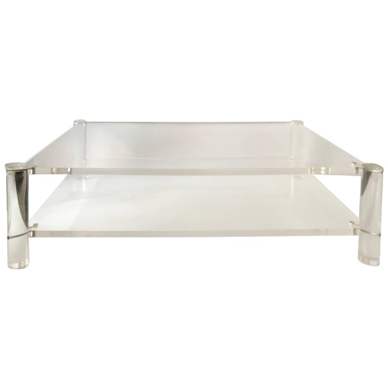 Maison Jansen Two-Tier Lucite Coffee Table