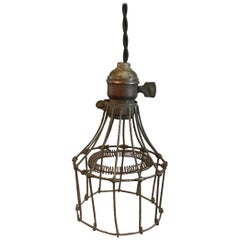 Industrial Steel Wire Cage Pendant Light