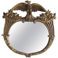 19th Century, 22-Karat Gilt Wood Federal Style Mirror