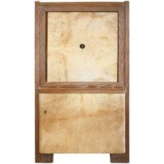 Parchment and Oak Bar Cabinet