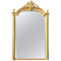 19th Century Gilded Wall Mirror / Overmantel, French, circa 1890
