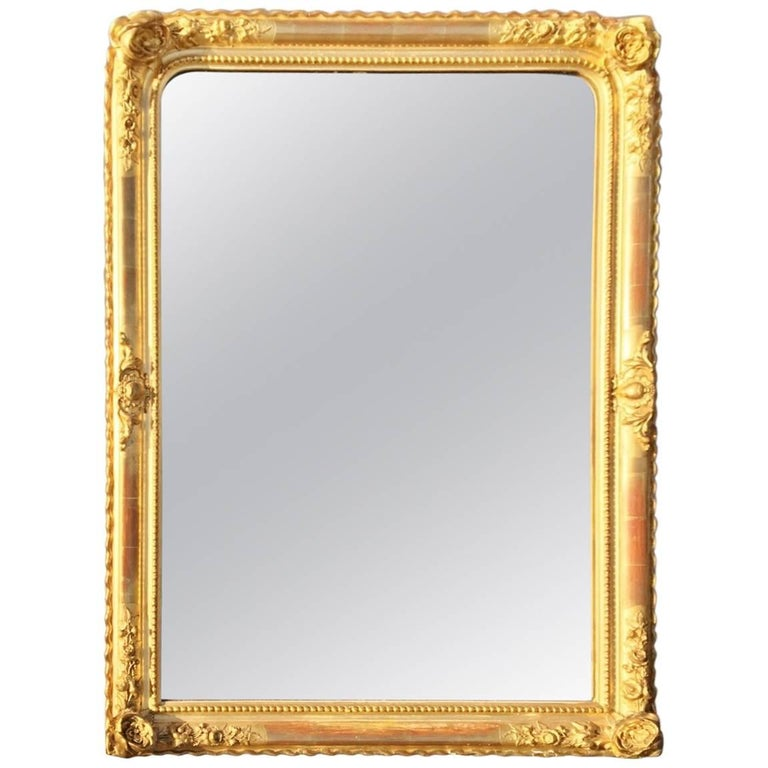 Gilt Mirror /  Over mantel Mirror, circa 1900