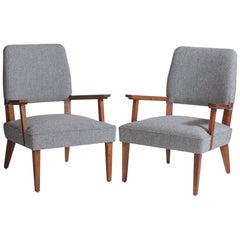 Italian Modern Armchairs, circa 1950