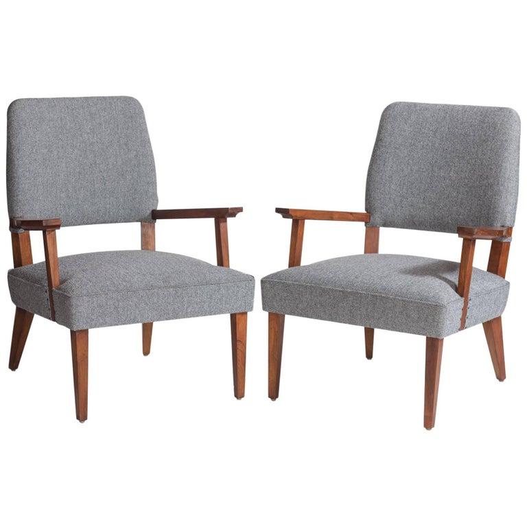 Italian Modern Armchairs, circa 1950 For Sale
