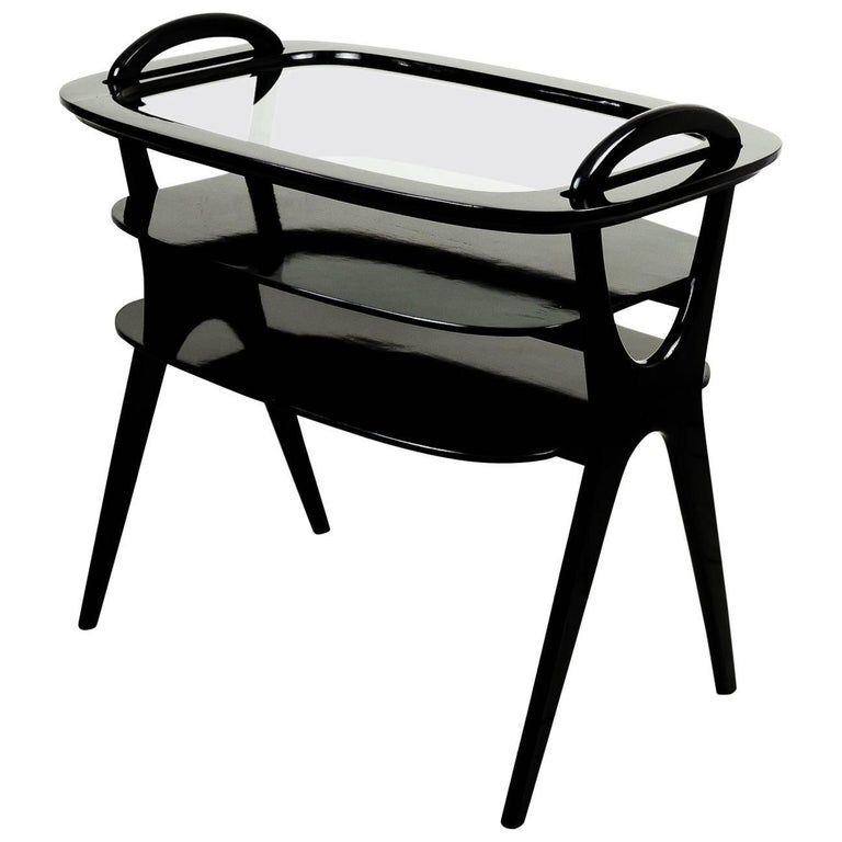 Serving Table with a Removable Glass Top Servier Vienna, 1950s