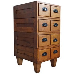 Early 20h Century Small Chest of Drawers / Art Deco Era Oak Filing Cabinet