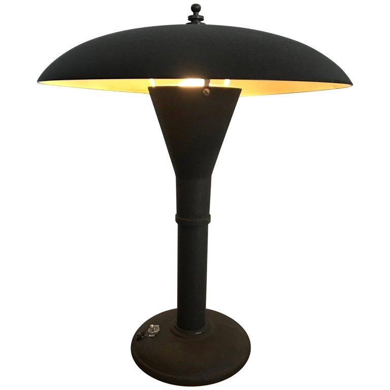 Classic Art Deco Dome Desk Lamp, Smith Metal Arts, 1930s