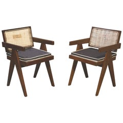 Pierre Jeanneret Set of 2 Office Chairs