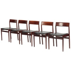 5 Johannes Norgaard Rosewood Chairs, 1960s