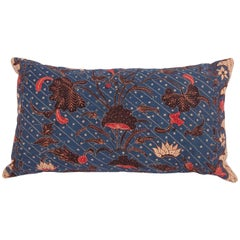 Batik Pillow Fashioned from an Early 20th Century Indonesian Batik Panel
