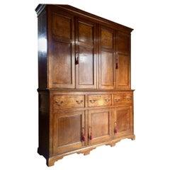 Housekeepers Cupboard Pantry Dresser Antique Oak Victorian 19th Century