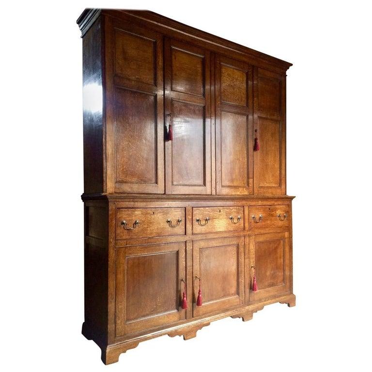 Housekeepers Cupboard Pantry Dresser Antique Oak Victorian